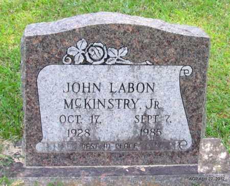 MCKINSTRY, JR, JOHN LABON - Bradley County, Arkansas | JOHN LABON MCKINSTRY, JR - Arkansas Gravestone Photos