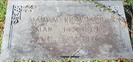 MARR MCLEOD, MARY - Bradley County, Arkansas | MARY MARR MCLEOD - Arkansas Gravestone Photos