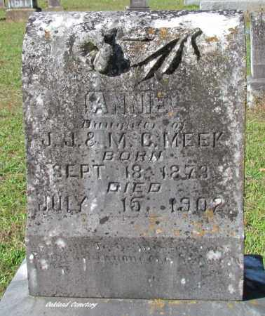 MEEK, ANNIE - Bradley County, Arkansas | ANNIE MEEK - Arkansas Gravestone Photos