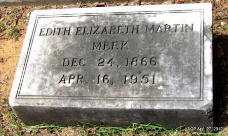 MEEK, EDITH ELIZABETH (CLOSE UP) - Bradley County, Arkansas | EDITH ELIZABETH (CLOSE UP) MEEK - Arkansas Gravestone Photos