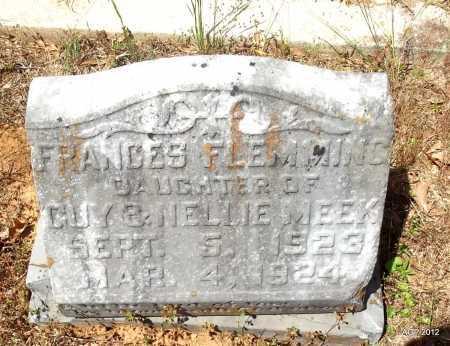 MEEK, FRANCES FLEMMING - Bradley County, Arkansas | FRANCES FLEMMING MEEK - Arkansas Gravestone Photos