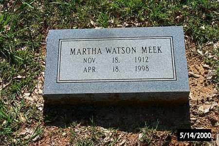MEEK, MARTHA WATSON - Bradley County, Arkansas | MARTHA WATSON MEEK - Arkansas Gravestone Photos