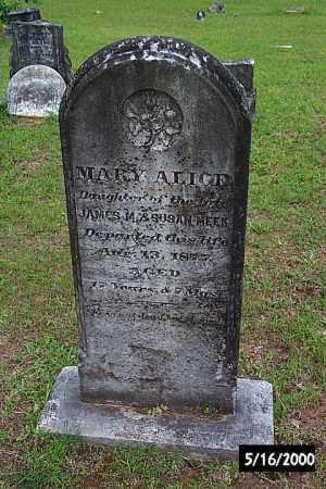 MEEK, MARY ALICE - Bradley County, Arkansas   MARY ALICE MEEK - Arkansas Gravestone Photos