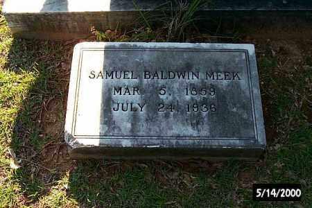 MEEK, SAMUEL BALDWIN - Bradley County, Arkansas   SAMUEL BALDWIN MEEK - Arkansas Gravestone Photos