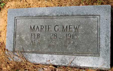 MEW, MARIE G - Bradley County, Arkansas | MARIE G MEW - Arkansas Gravestone Photos