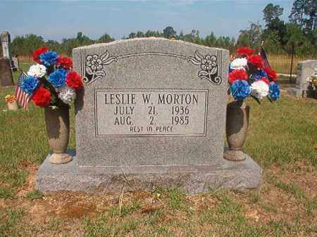 MORTON, LESLIE W - Bradley County, Arkansas | LESLIE W MORTON - Arkansas Gravestone Photos