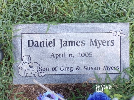 MYERS, DANIEL JAMES - Bradley County, Arkansas | DANIEL JAMES MYERS - Arkansas Gravestone Photos