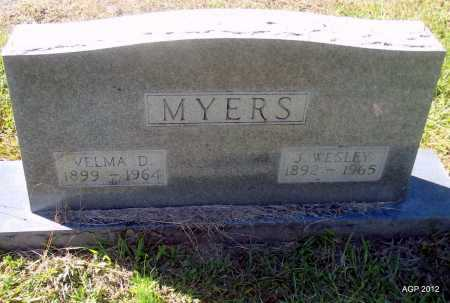 MYERS, J WESLEY - Bradley County, Arkansas | J WESLEY MYERS - Arkansas Gravestone Photos