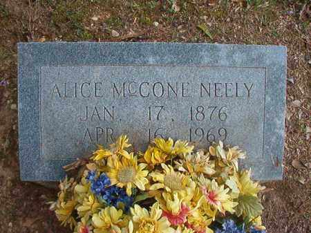 MCCONE NEELY, ALICE - Bradley County, Arkansas | ALICE MCCONE NEELY - Arkansas Gravestone Photos