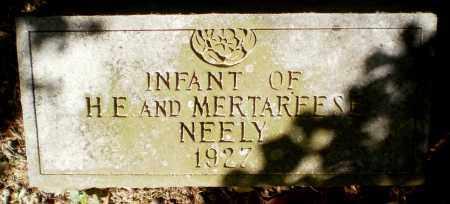 NEELY, INFANT - Bradley County, Arkansas | INFANT NEELY - Arkansas Gravestone Photos