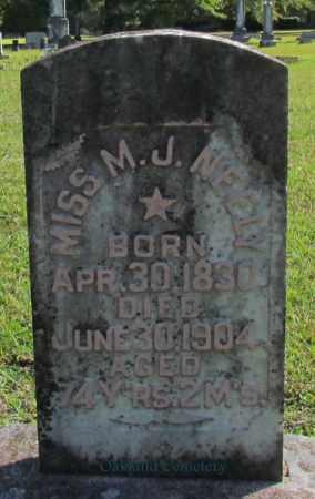 NEELY, M J, MISS - Bradley County, Arkansas | M J, MISS NEELY - Arkansas Gravestone Photos