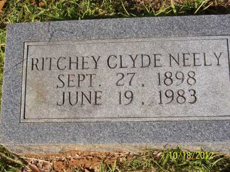 NEELY, RITCHLEY CLYDE - Bradley County, Arkansas | RITCHLEY CLYDE NEELY - Arkansas Gravestone Photos