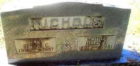 NICHOLS, BENNIE G - Bradley County, Arkansas | BENNIE G NICHOLS - Arkansas Gravestone Photos