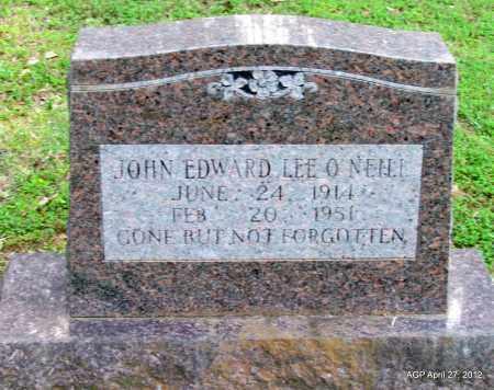 O'NEILL, JOHN EDWARD - Bradley County, Arkansas   JOHN EDWARD O'NEILL - Arkansas Gravestone Photos