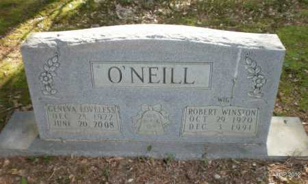 LOVELESS O'NEILL, GENEVA - Bradley County, Arkansas | GENEVA LOVELESS O'NEILL - Arkansas Gravestone Photos