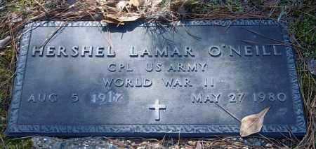 O'NEILL (VETERAN WWII), HERSHEL LAMAR - Bradley County, Arkansas | HERSHEL LAMAR O'NEILL (VETERAN WWII) - Arkansas Gravestone Photos