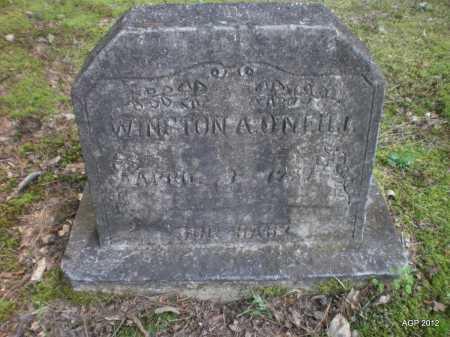 O'NEILL, WINSTON ALLEN - Bradley County, Arkansas | WINSTON ALLEN O'NEILL - Arkansas Gravestone Photos