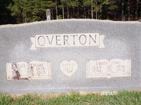 OVERTON, EMMA JANE - Bradley County, Arkansas | EMMA JANE OVERTON - Arkansas Gravestone Photos