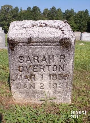 OVERTON, SARAH REBECCA - Bradley County, Arkansas | SARAH REBECCA OVERTON - Arkansas Gravestone Photos