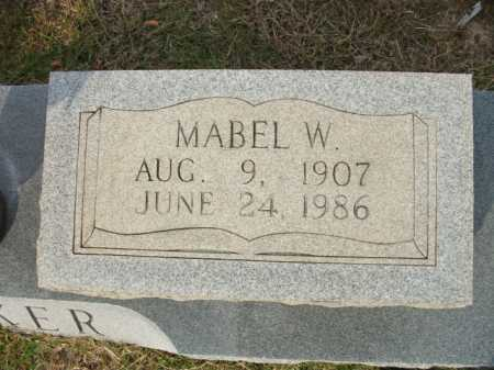 PARKER, MABEL W (CLOSE UP) - Bradley County, Arkansas | MABEL W (CLOSE UP) PARKER - Arkansas Gravestone Photos