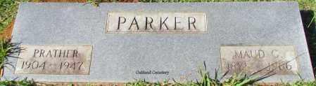 PARKER, MAUD C - Bradley County, Arkansas | MAUD C PARKER - Arkansas Gravestone Photos