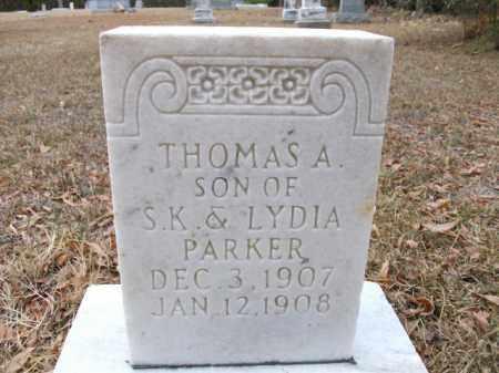 PARKER, THOMAS A - Bradley County, Arkansas   THOMAS A PARKER - Arkansas Gravestone Photos