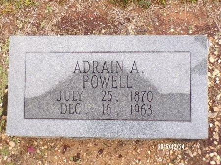 POWELL, ADRAIN A - Bradley County, Arkansas | ADRAIN A POWELL - Arkansas Gravestone Photos