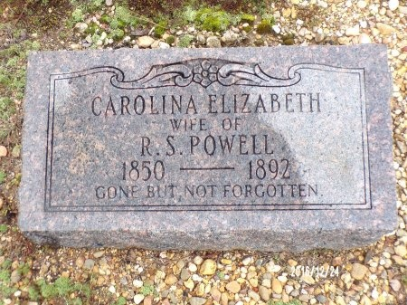 POWELL, CAROLINA ELIZABETH - Bradley County, Arkansas   CAROLINA ELIZABETH POWELL - Arkansas Gravestone Photos