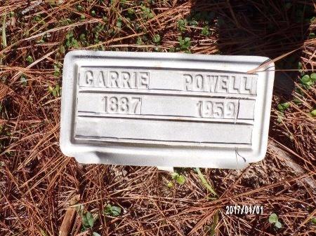 POWELL, CARRIE - Bradley County, Arkansas   CARRIE POWELL - Arkansas Gravestone Photos