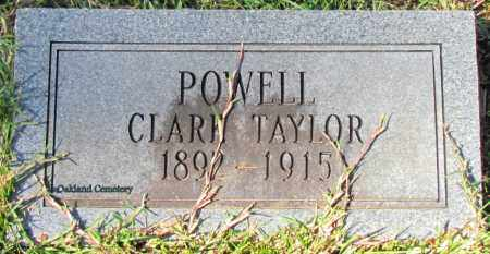 POWELL, CLARK TAYLOR - Bradley County, Arkansas | CLARK TAYLOR POWELL - Arkansas Gravestone Photos