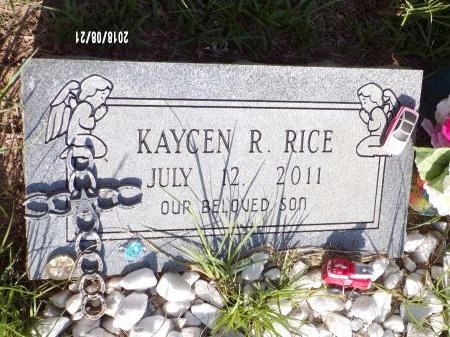RICE, KAYCEN RAY - Bradley County, Arkansas | KAYCEN RAY RICE - Arkansas Gravestone Photos