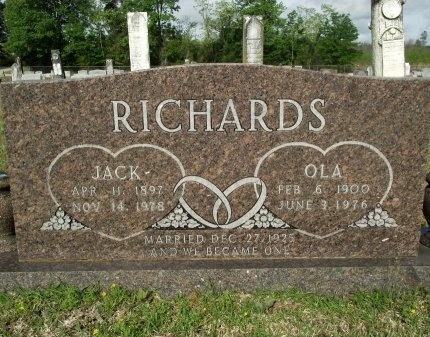 RICHARDS, LEONARD JACK - Bradley County, Arkansas | LEONARD JACK RICHARDS - Arkansas Gravestone Photos