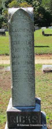 RICKS, CLAUDIE MAY - Bradley County, Arkansas | CLAUDIE MAY RICKS - Arkansas Gravestone Photos