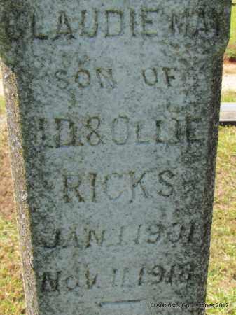 RICKS, CLAUDIE MAY (CLOSEUP) - Bradley County, Arkansas | CLAUDIE MAY (CLOSEUP) RICKS - Arkansas Gravestone Photos