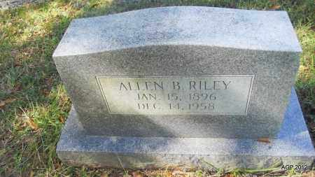 RILEY, ALLEN B - Bradley County, Arkansas | ALLEN B RILEY - Arkansas Gravestone Photos