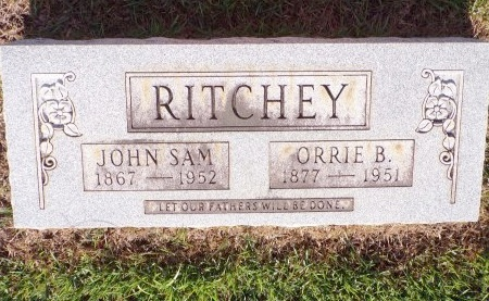 CATER RITCHEY, ORRIE B - Bradley County, Arkansas | ORRIE B CATER RITCHEY - Arkansas Gravestone Photos