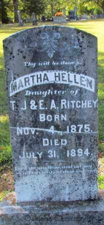 RITCHEY, MARTHA HELLEN - Bradley County, Arkansas | MARTHA HELLEN RITCHEY - Arkansas Gravestone Photos