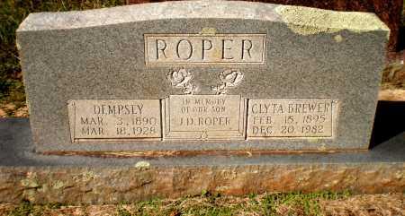 BREWER ROPER, CLYTA M - Bradley County, Arkansas | CLYTA M BREWER ROPER - Arkansas Gravestone Photos