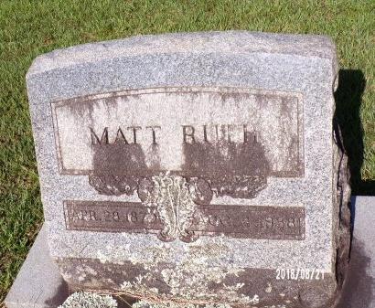 RUTH, MATT - Bradley County, Arkansas | MATT RUTH - Arkansas Gravestone Photos