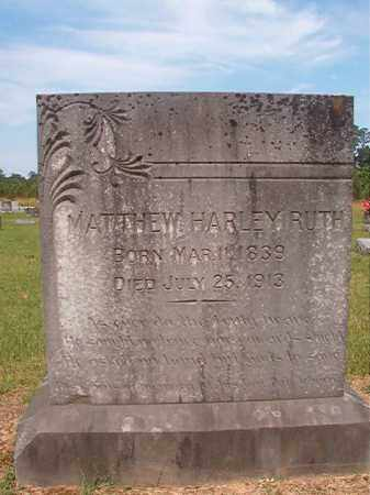 RUTH (VETERAN CSA), MATTHEW HARLEY - Bradley County, Arkansas | MATTHEW HARLEY RUTH (VETERAN CSA) - Arkansas Gravestone Photos