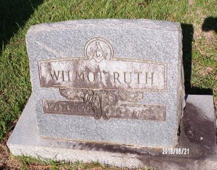 RUTH, WILMOT - Bradley County, Arkansas | WILMOT RUTH - Arkansas Gravestone Photos