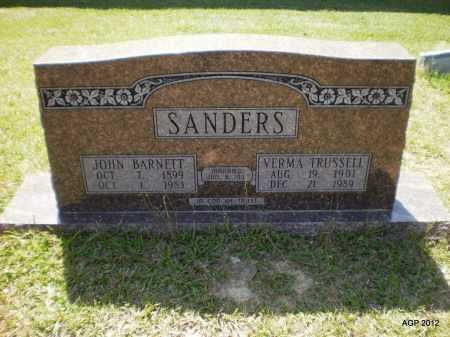 SANDERS, VERMA - Bradley County, Arkansas   VERMA SANDERS - Arkansas Gravestone Photos