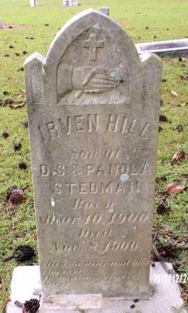 STEDMAN, IRVEN HILL - Bradley County, Arkansas | IRVEN HILL STEDMAN - Arkansas Gravestone Photos