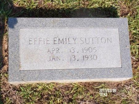 SUTTON, EFFIE EMILY - Bradley County, Arkansas | EFFIE EMILY SUTTON - Arkansas Gravestone Photos