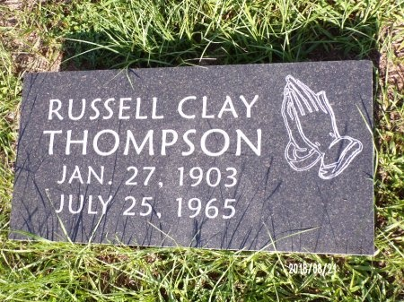 THOMPSON, RUSSELL CLAY - Bradley County, Arkansas | RUSSELL CLAY THOMPSON - Arkansas Gravestone Photos