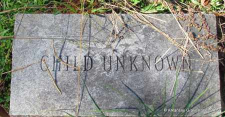 UNKNOWN, CHILD - Bradley County, Arkansas   CHILD UNKNOWN - Arkansas Gravestone Photos