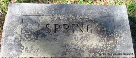 UNKNOWN, SPRING - Bradley County, Arkansas   SPRING UNKNOWN - Arkansas Gravestone Photos
