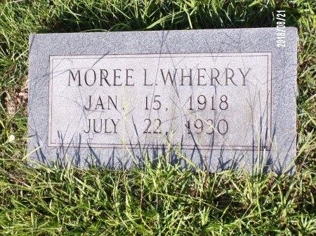 WHERRY, MOREE L - Bradley County, Arkansas | MOREE L WHERRY - Arkansas Gravestone Photos