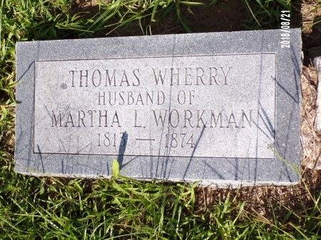WHERRY, THOMAS - Bradley County, Arkansas | THOMAS WHERRY - Arkansas Gravestone Photos