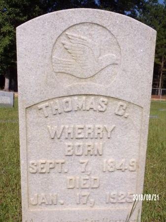 WHERRY, THOMAS C (CLOSE UP) - Bradley County, Arkansas | THOMAS C (CLOSE UP) WHERRY - Arkansas Gravestone Photos
